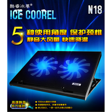 Pocket book USB Radiator N18 with 2 Followers For Laptop computer Pc Mute Cooling Cracket Base Pad Cooler Assist Pad