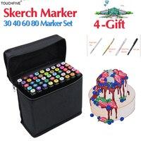 Touchfive 30 40 60 80 Colors Sketch Marker Design Artist Dual Head Alcohol Based Markers Set