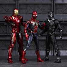 Avengers Infinity War Iron Spider Figure Spiderman Black Panther Iron Man Action Figure toy