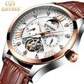 KINYUED автоматические механические часы для мужчин  модные роскошные брендовые часы Tourbillon  мужские светящиеся водонепроницаемые часы  Relogio ...
