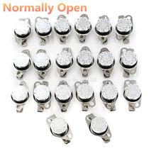 Interruptor de temperatura de KSD-301 de baquelita, normalmente abierto KSD301 10A 250V 40-135 grados, Sensor de termostato 50 60 65 70 75 80 90 100, 2 uds.
