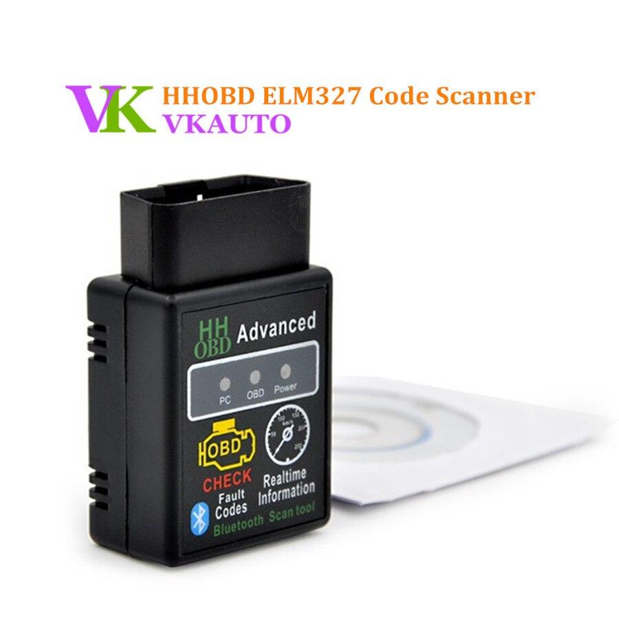 HH OBD ELM327 V2.1 Bluetooth HHOBD Advanced ELM327 Mini OBD2 Check Clear Fault Codes Scan Tool