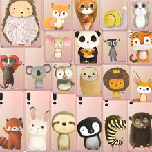 2018 animal Phone Cases zebra penguin Bear fox Koalas lion bird panda tiger rabbit Hedgehog for huawei p10 p20 lite plus pro p8