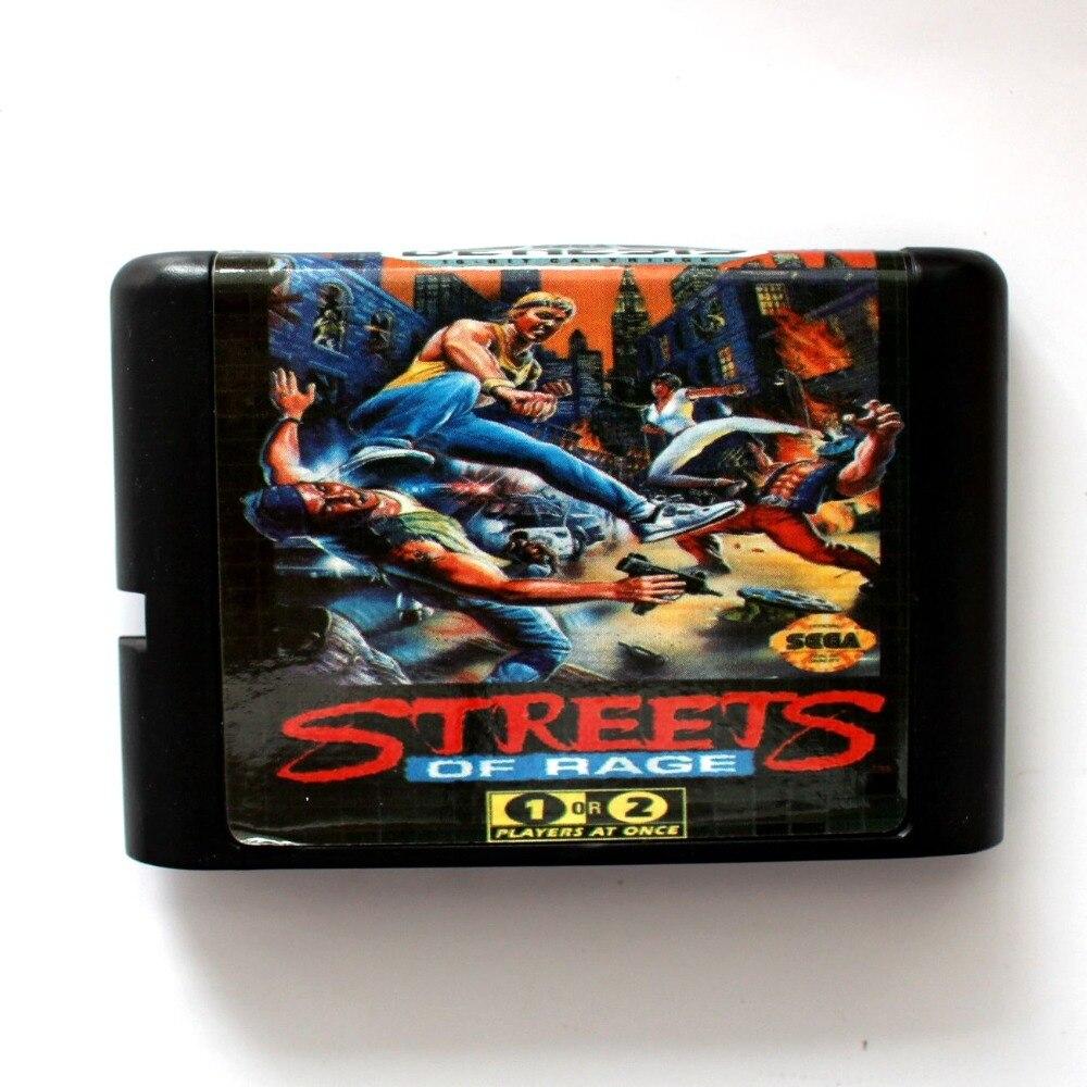 Streets Of Rage 16 bit SEGA MD Game Card For Sega Mega Drive For Genesis