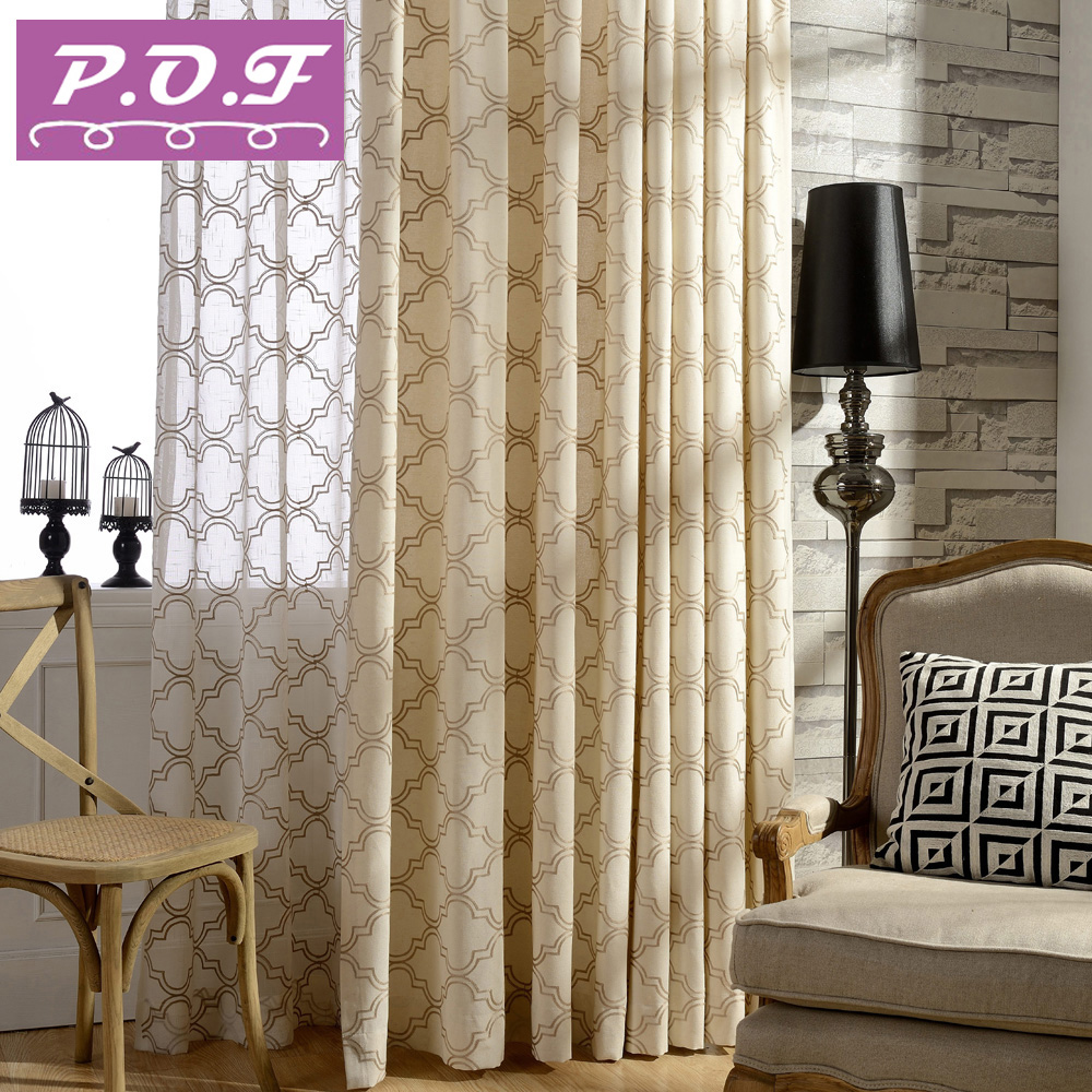 High Window Curtains: P.O.F Curtains For Living Room High Quality Curtain Fabric