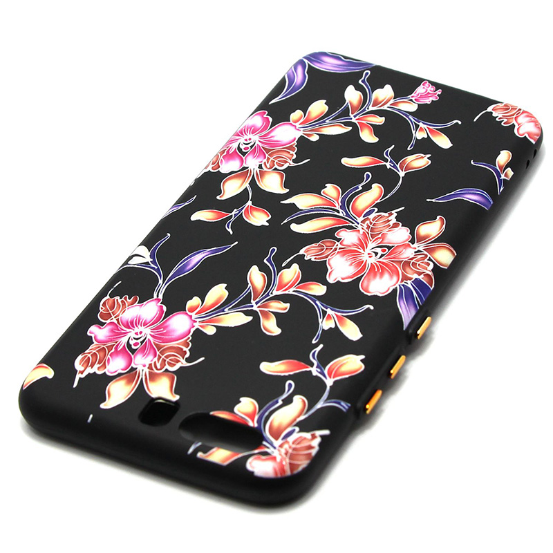 3D Relief flower silicone  case huawei p10 (29)