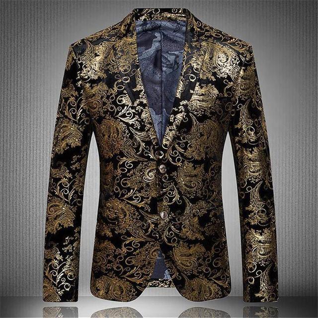 Тонкий Бальные Одежда Вышитые Производительность Певица Костюмы Полиэстер Хлопок Материал Модный Личность Блейзер DH-025