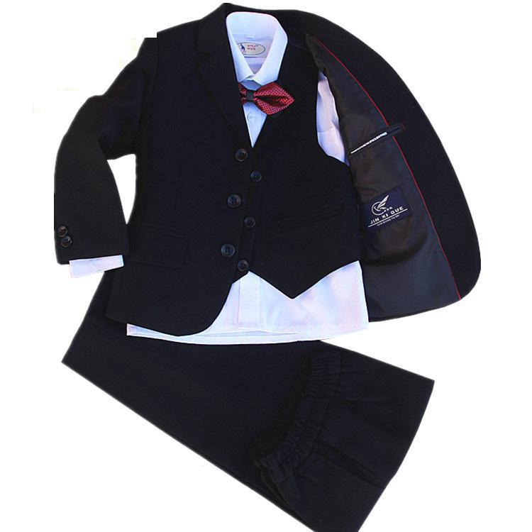 4 Pieces set high quality jacket+vest+pants +bow tie Children Formal Suit Jacket Wedding boys  Dress Suit  size 2years -12 years4 Pieces set high quality jacket+vest+pants +bow tie Children Formal Suit Jacket Wedding boys  Dress Suit  size 2years -12 years