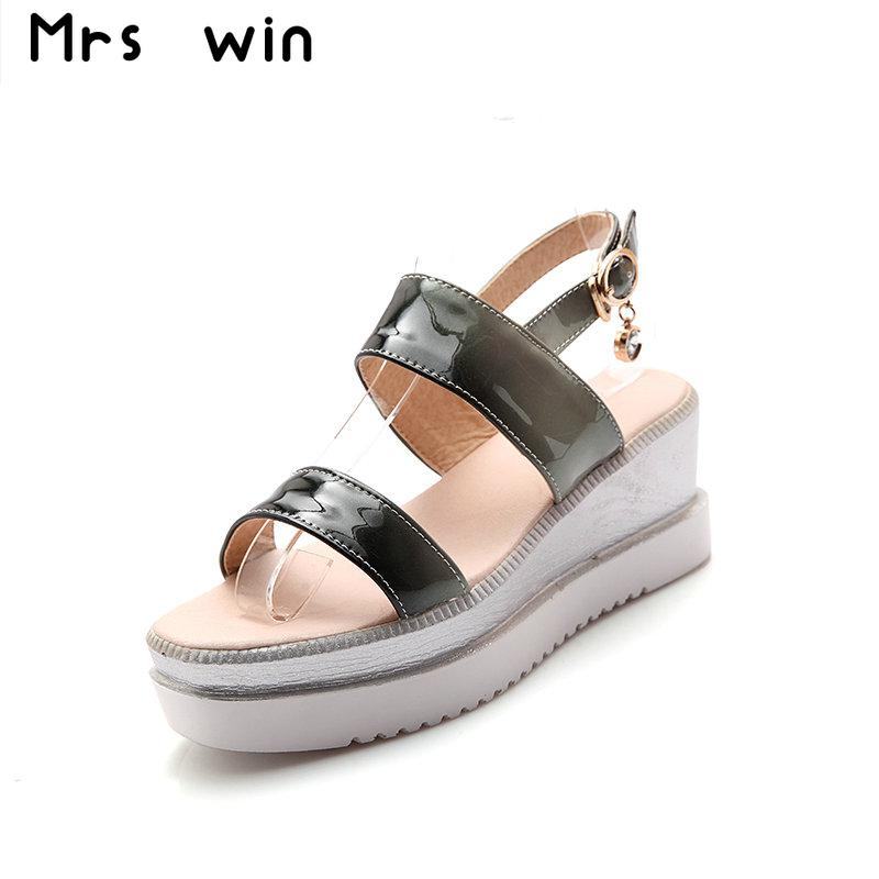 2017 New summer women shoes high heel platform shoes wedges sandals high heels sandals casual shoes woman large size 34-43 phyanic 2017 gladiator sandals gold silver shoes woman summer platform wedges glitters creepers casual women shoes phy3323