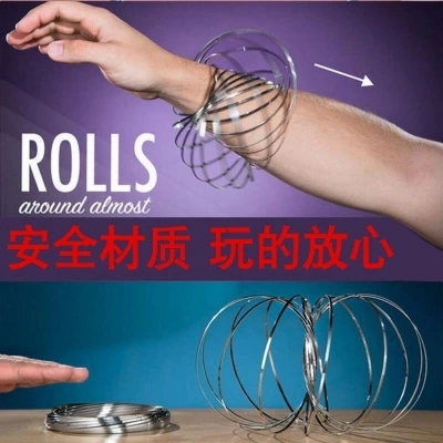 Stainless Steel Magic Flow Ring Toys Kinetic Spring Toy Funny Outdoor Game Intelligent Spinner Kids toys