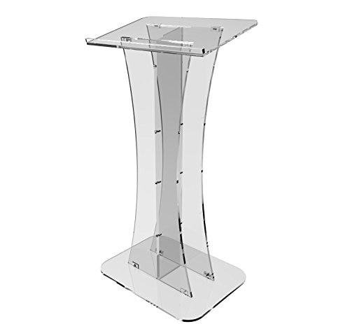 Fixture Displays Plexiglass Acrylic Podium Clear Lectern Church Pulpit