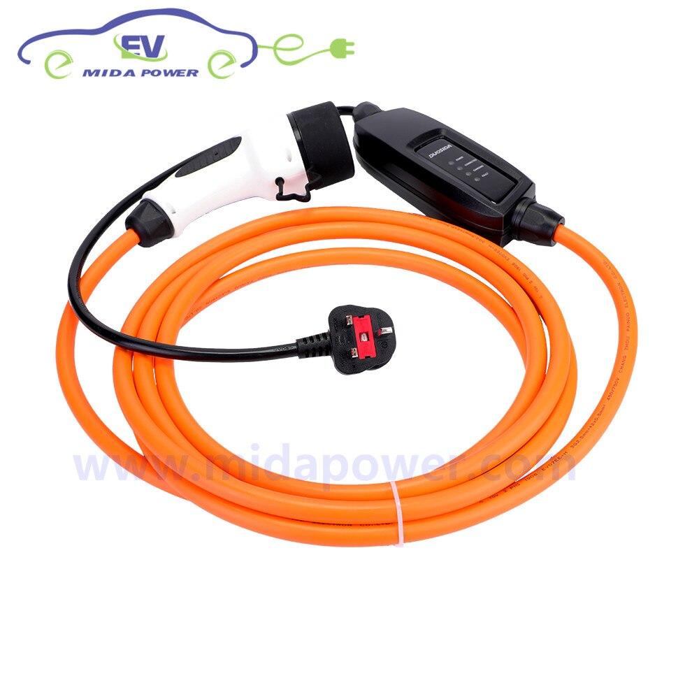 6 м 16A IEC 62196 2 Mennekes UK штекер Тип 2 кабель для зарядки аккумулятора с евровилкой портативный зарядное устройство evse коробка электромобиль кабел