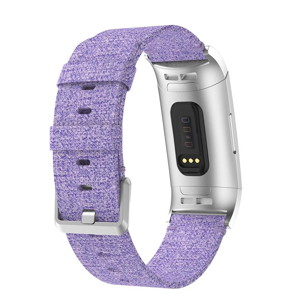 Correa de reloj de tela de lona tejida de repuesto para Fitbit Charge 3 Wterproof