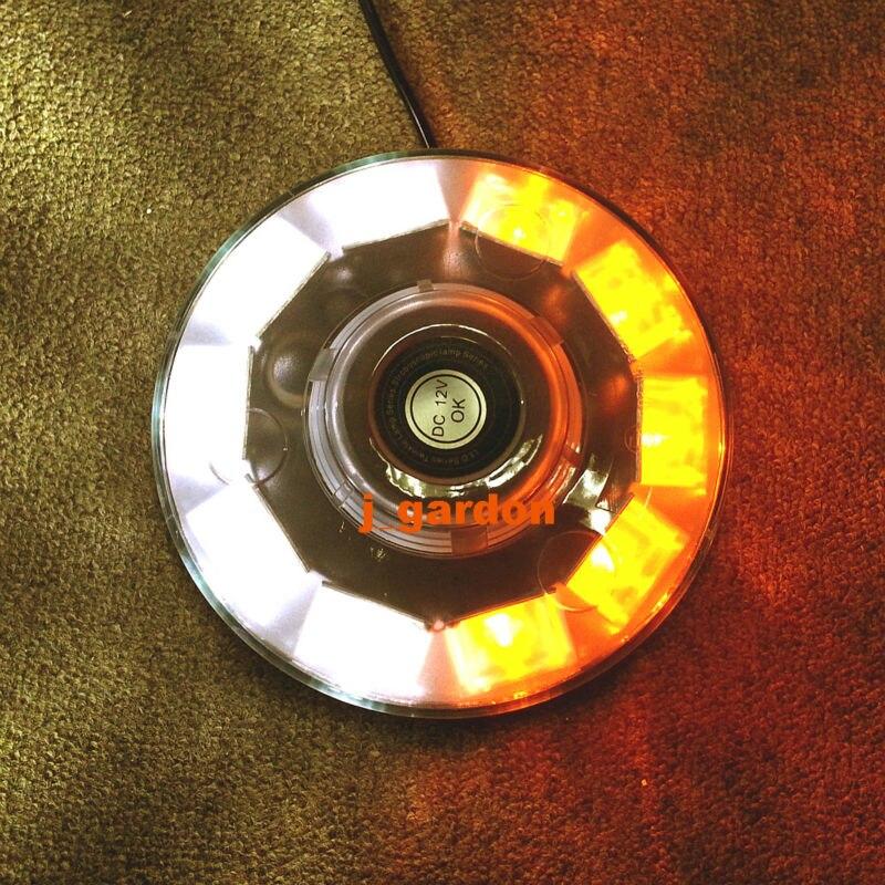 VSLED 10 LED Police Fire Mini Amber/White Lightbar