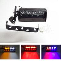 Universial Super Bright 16 LED Car Strobe Flash Light Yellow Blue Dash Emergency Amber Lightbar Warning Signal Flashing Fog Lamp