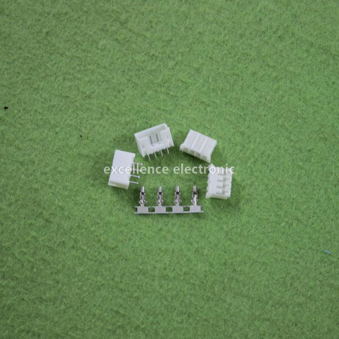 100 Sets, Micro JST 2.0 PH 4-Pin Connector Plug Male ,Female, Crimps