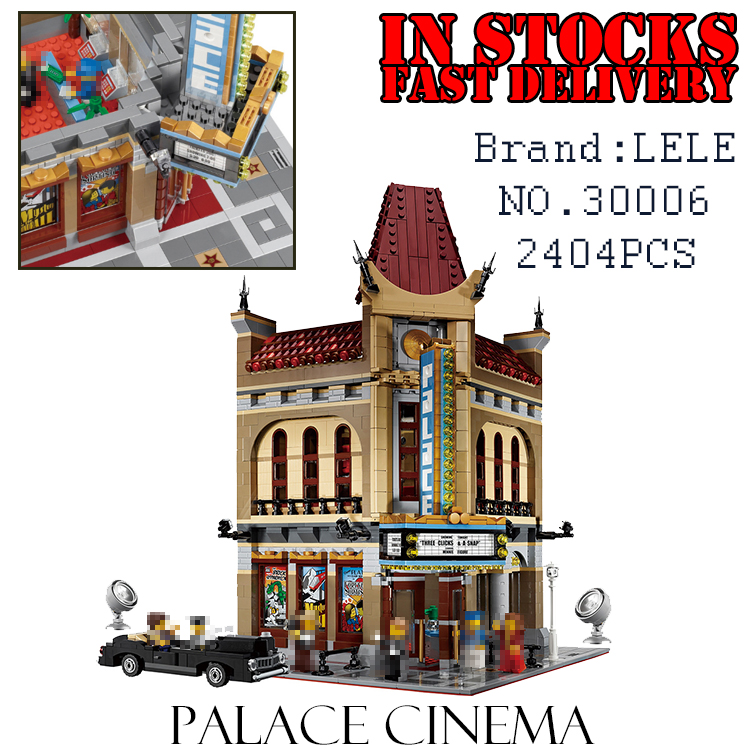 LELE Creator 30006 2404PCS Palace Cinema Building Blocks Bricks enlighten DIY toys for children Brithday gifts brinquedos 10232 decool 3117 city creator 3 in 1 vacation getaways model building blocks enlighten diy figure toys for children compatible legoe