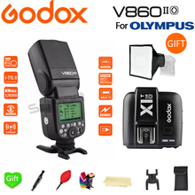 цена Paypal Accpect, Godox V860II-O Flash GN60 HSS TTL Li-ion Battery V860II Flash Speedlite + X1T-O Trigger for Olympus Camera онлайн в 2017 году