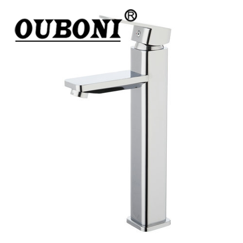 Tall Single Handle Spray Spout+Soild Brass Body Two Hose Deck Mount Wash Basin Sink Vessel Torneira Tap Mixer Faucet стоимость