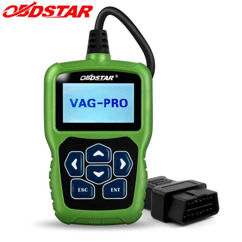Prix pour Obdstar vag pro auto key programmeur pas besoin de code pin pour vw/audi/skoda/seat epb airbag srs vag pro outil de correction d'odomètre