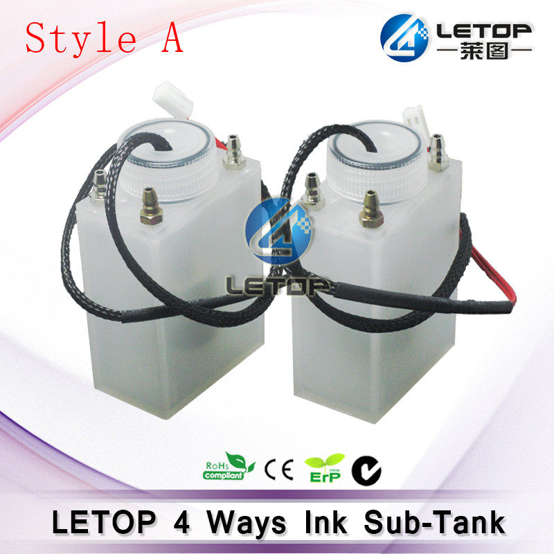 4 Connectors Printer Ink Sub Tank with Metal Connector for Allwin jhf leopard taimes human solvent