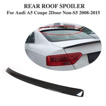 คาร์บอนไฟเบอร์ด้านหลังสปอยเลอร์ Lip สำหรับ Audi A5 Coupe 2 ประตู Non-S5 Non - Sline 2008-2015 รถจัดแต่งทรงผม