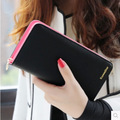 2017 Bags Good Quality Women Colorful Wallets Long Wallet Fashion Zipper Purse Pu Leather Card Holder