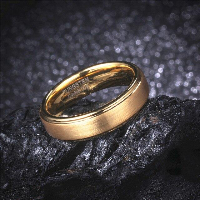 line Shop 6MM Fashion Women s Gold Color Tungsten Carbide