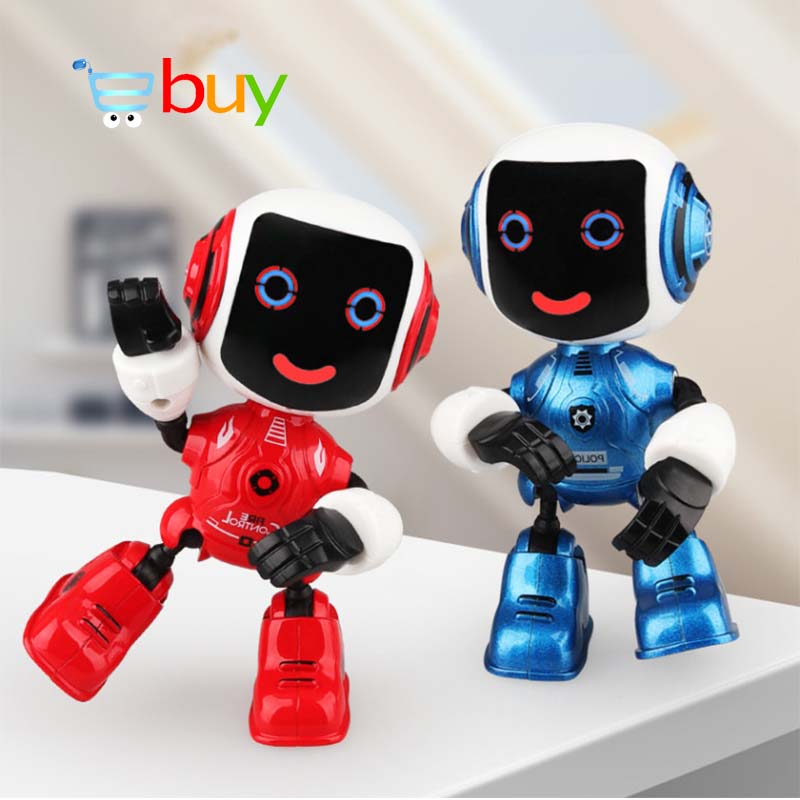 Alloy Electric Touch Sensing Smart Robot Toys for Children Kids Early Educational Induction Voice Phone Holder Model Decoration vacation