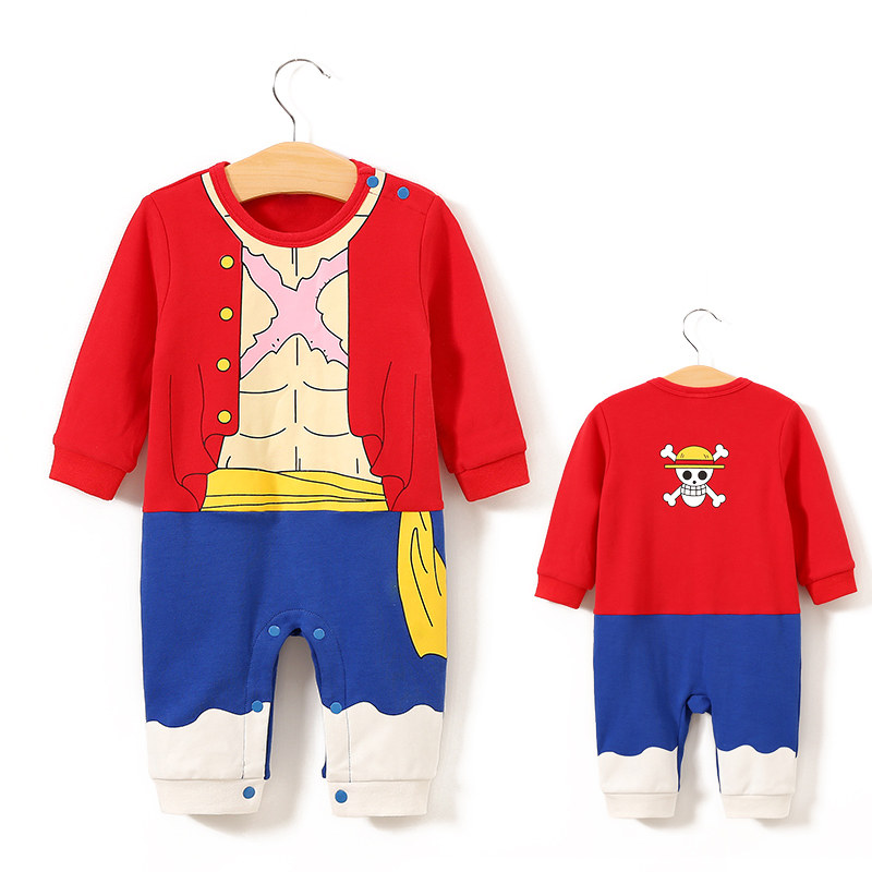 YiErYing Baby Clothing Baby Cotton   rompers   One Piece Luffy Style Long Sleeve Baby Jumpsuits Baby Boy Girl Clothes
