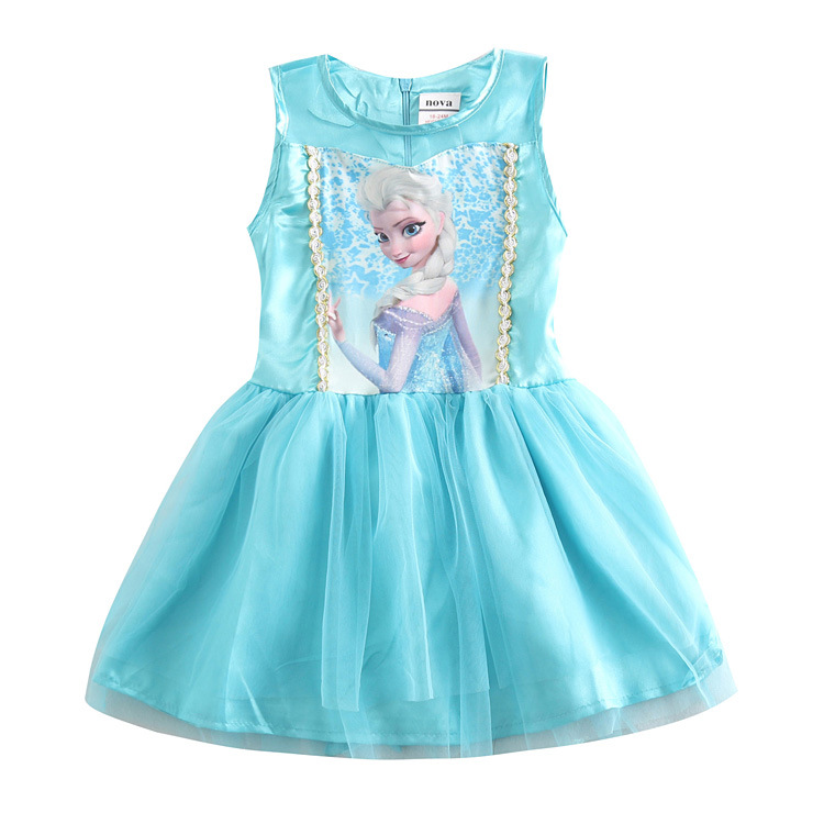 New Elsa Girl Dress Children Nightgowns Sleepshirts Princess Pajamas Elza Nightdress For ...
