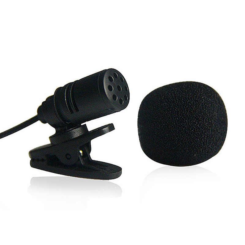 Mini micrófono portátil de solapa con Clip de cuello con cable manos libres de 3,5mm externo para PC Laptop Lound Speaker