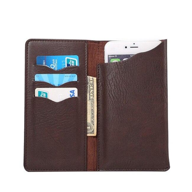 Nuevo 4 colores de cuero de estilo libro de la carpeta del teléfono case para as