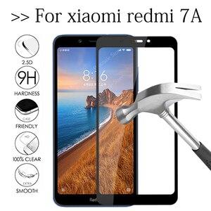 Pełna pokrywa szkło hartowane dla Xiaomi Redmi 7A 5.45 ''ochraniacz ekranu Redmi 7A szkło ochronne na Xiaomi Xiaomi Redmi 7 w A7 Film