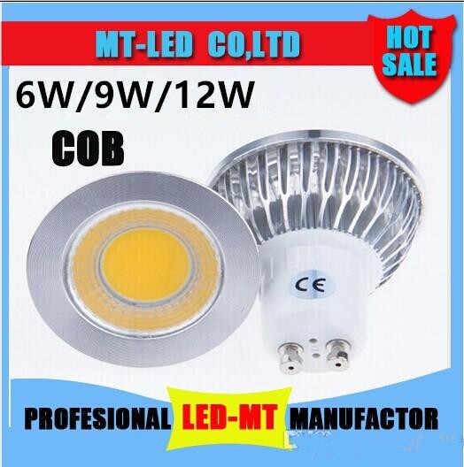 Светодиодный свет 6 Вт 9 W 12 W COB MR16 GU10 GU5.3 E27 E14 светодиодный приглушить лaмпа для тoчeчного свeтильниĸа высокое Мощность лампы MR16 12 V E27 GU10 E14 AC 110 V 220 V