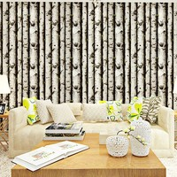 Country Style Simple Trees Mural Wall Paper Vinyl Background