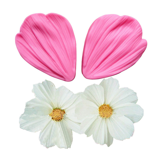 Chrysanthemum Flower Petals Shape Silicone Mold Fondant Chocolate cake tools Baking Cookie Moulds Decorating Molds F0681