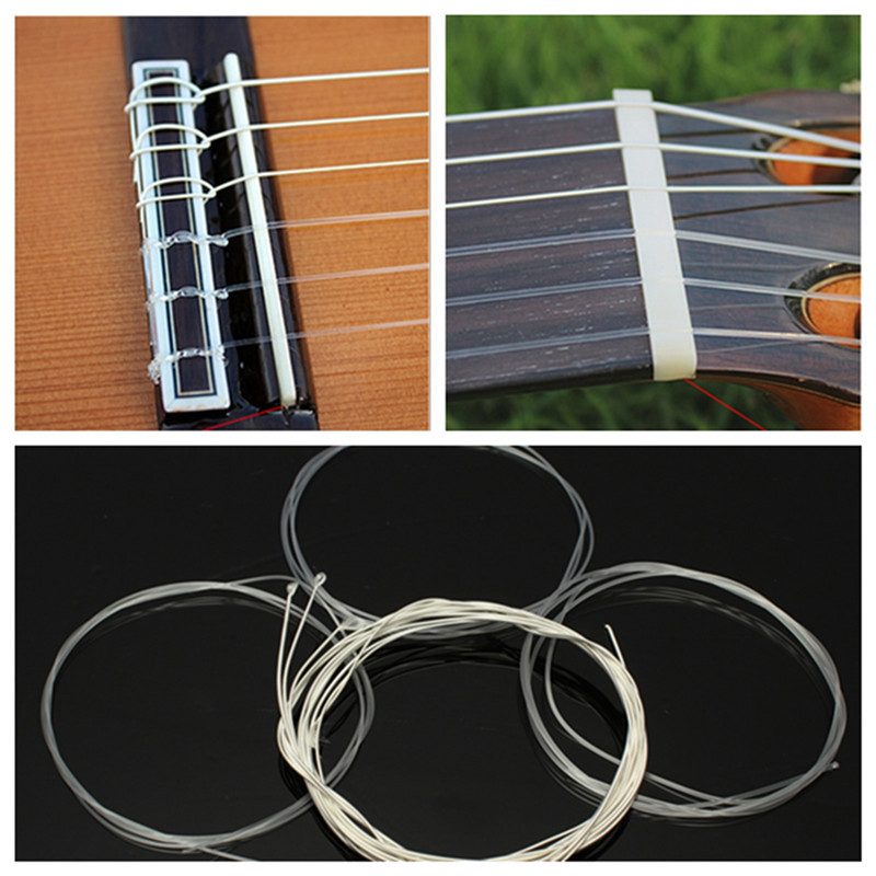 Hot 6 Pcs/set Guitar Strings Nylon Silver Plating Set Super Light For Classic Acoustic Guitar Parts Accessories Pure Strigning