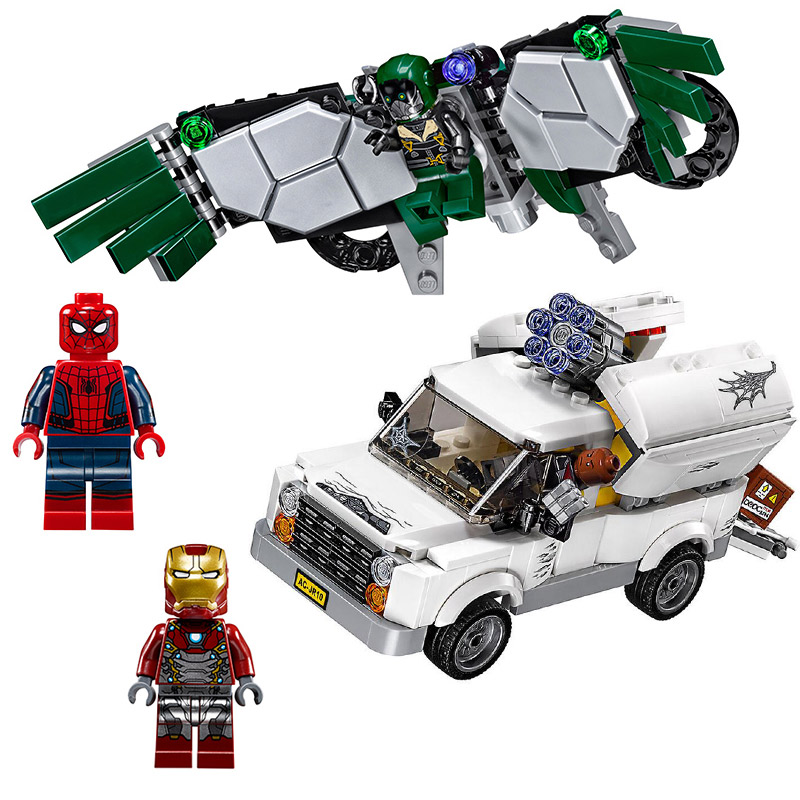 10746 SpiderMan Super Heroes Homecoming Building Blocks DIY Bricks toys gift Compatible With Legoings Spider Man 76083