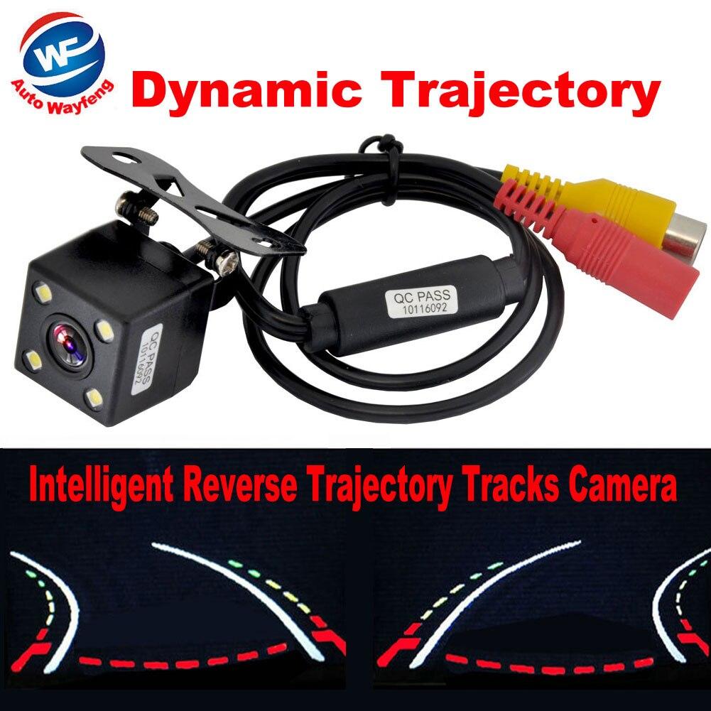 NEW Hot Intelligent Dynamic Trajectory Tracks Rear View Camera HD CCD Reverse Backup Camera Auto Reversing Parking Assistance