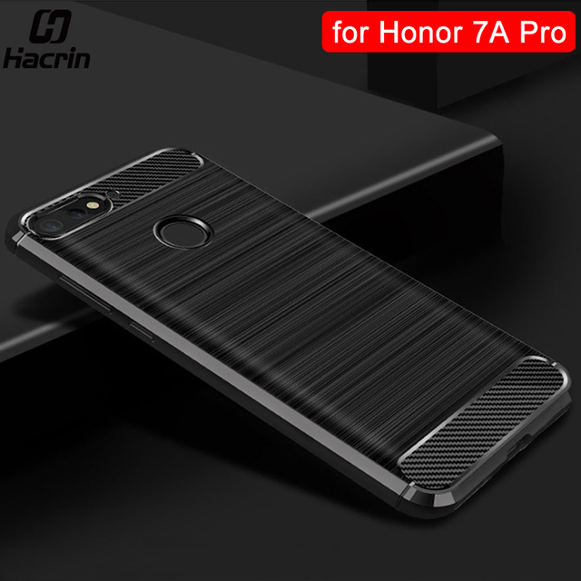 Honor 7A Pro Case Protective Cover for Huawei Honor 7A Pro Case Bumper Back Cover Carbon Fiber Case for Huawei Y6 Prime 2018