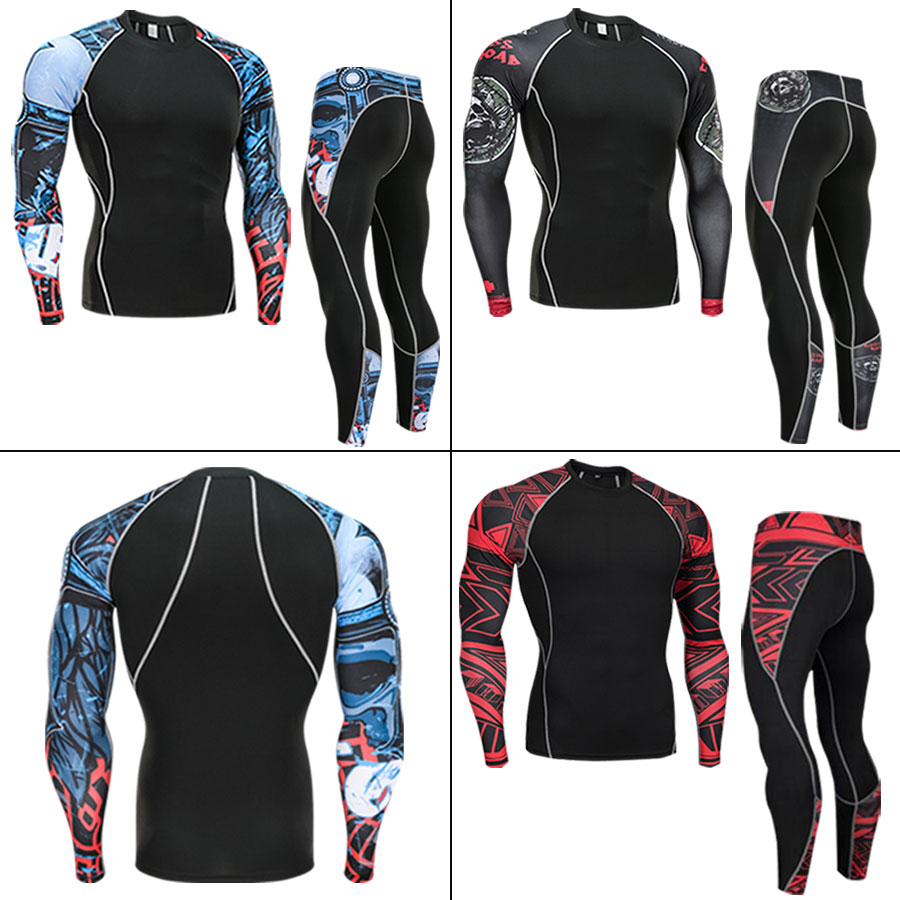 Winter Thermal Underwear Men's Suit Compression Tights Warm Base Set Sport Thermal Underwear S M L XL XXL 3XL 4XL Plus size
