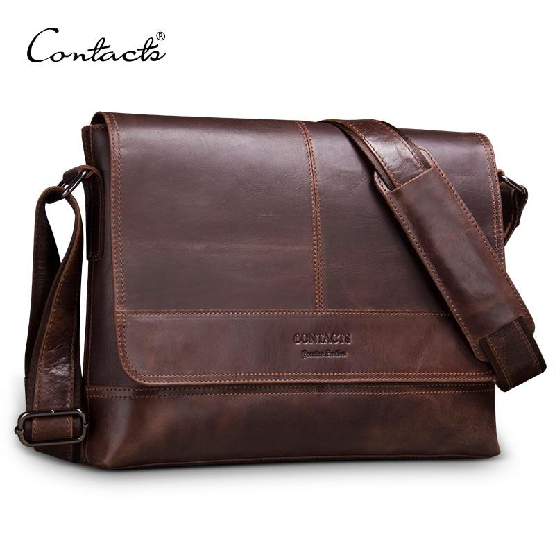 79a6bc224649 Контакта пояса из натуральной кожи для мужчин сумка для ноутбука мужчин's  портфели Наплечная Сумка Мужские сумки