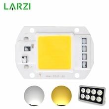 LARZI LED COB Chip 50W 40W 30W 20W 10W 110V 220V Smart IC Input High Lumens For DIY Floodlight Spotlight Light C