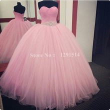 Pink Cheap Quinceanera Dresses for Beauty Girls 2017 Real Pictures Tulle Sexy Sweetheart Puffy Corset Ball Gowns Prom Gowns