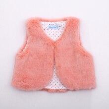 Одежда для маленьких девочек, хлопковые жилетки из искусственного меха, осенне-зимняя верхняя одежда, модная одежда для мальчиков и девочек