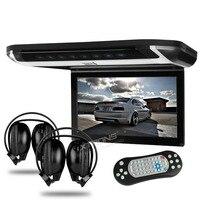 Xtrons 10,1 HD цифровой TFT монитор крыши автомобиля DVD Автомобильная крыша отвесной монитор SD/USB/тонкий стильный дизайн с 2 шт. IR наушники