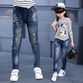 child's jeans trousers autumn girls' s casual jeans autumn pants factory wholesale 6-10 year