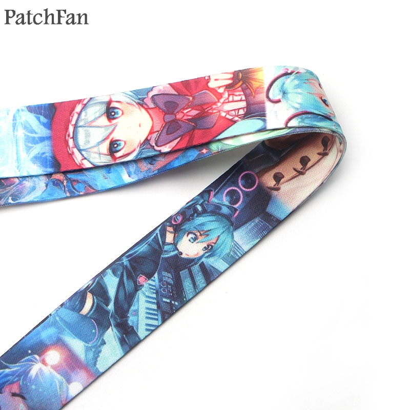 Patchfan Newest popular Hatsune Miku lanyards neck straps for phones keys bead id card holders keychain webbing A0459 in Webbing from Home Garden