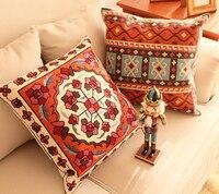 Embroidery Decorative Pillow Covers Sofa Luxury Cushion Cover Chinese Style Pillowcase Capas De Almofadas Bordadas